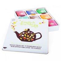 Dárková plechová kazeta s 9 příchutěmi BIO čajů